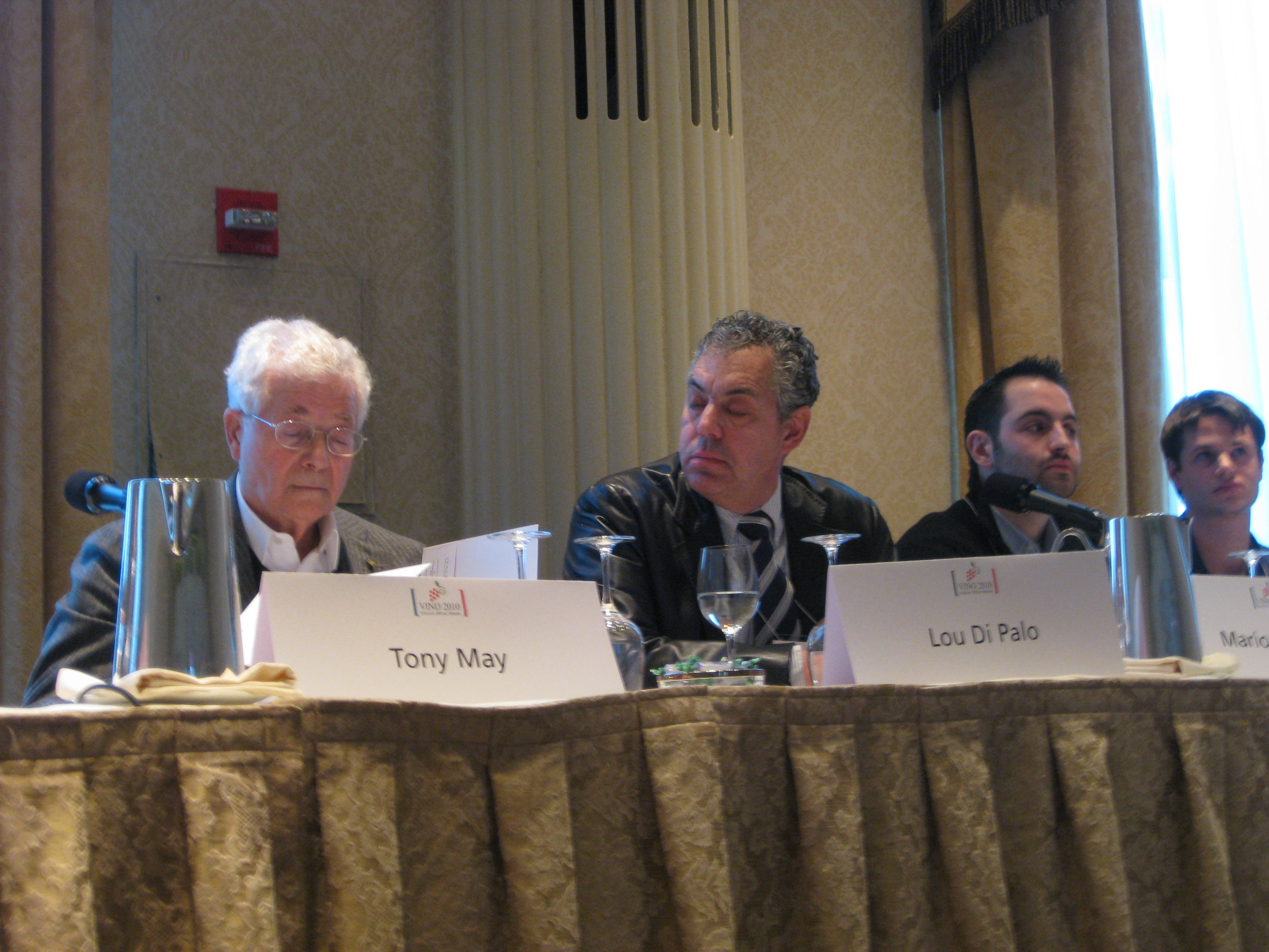 Panelists Tony May, Lou Di Palo, Mario Carbone, Rich Torrisi