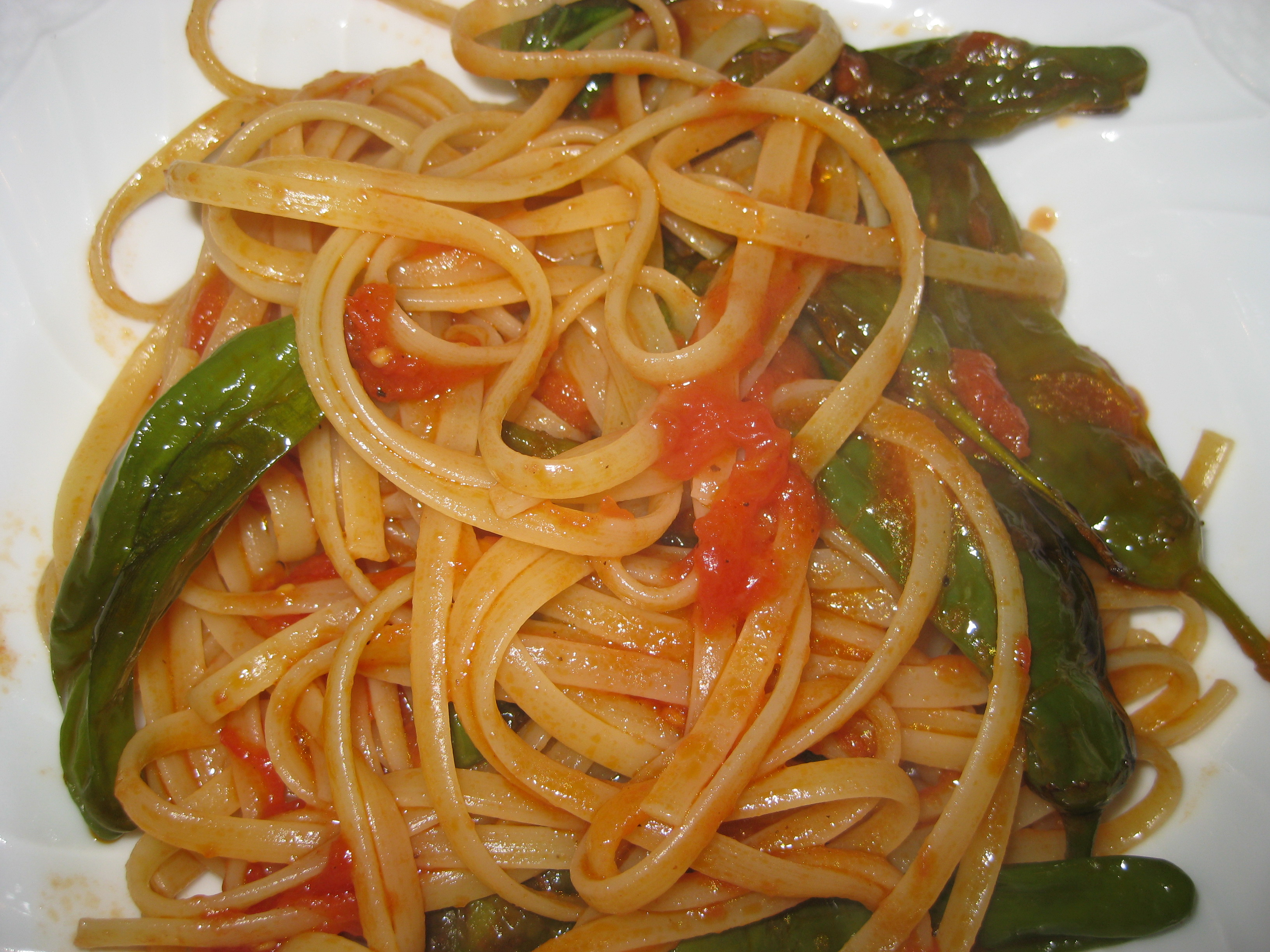 Linguine with Friarielli (or Shishitos) and Tomatoes