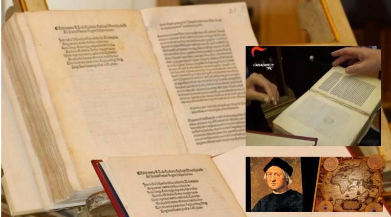 Christopher Columbus Letter To King Ferdinand.Stolen Christopher Columbus Letter Sails Home To Italy
