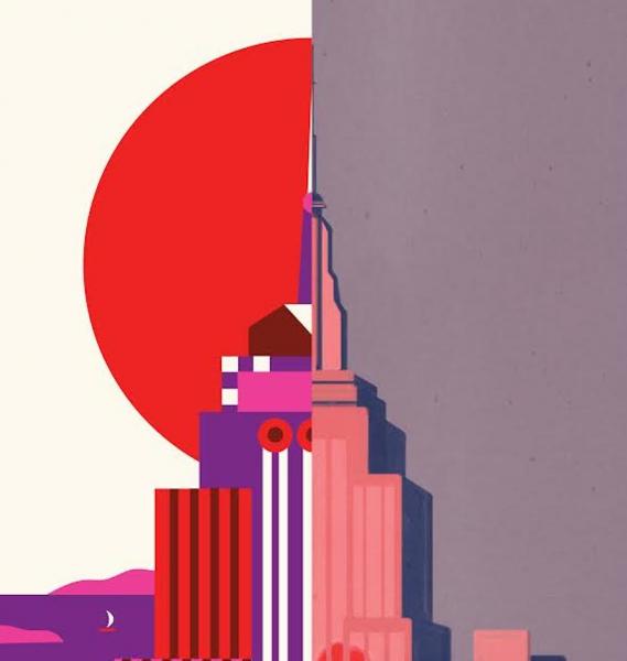 Nyc Subway Map Author Emiliano Ponzi.Graphic Frescoes Two Italian Illustrators One American Story