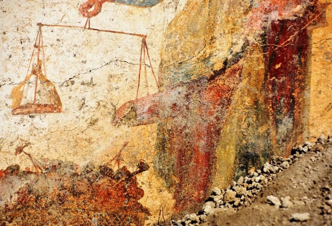 Consolidation Work at Pompeii Reveals New Fresco of Priapus