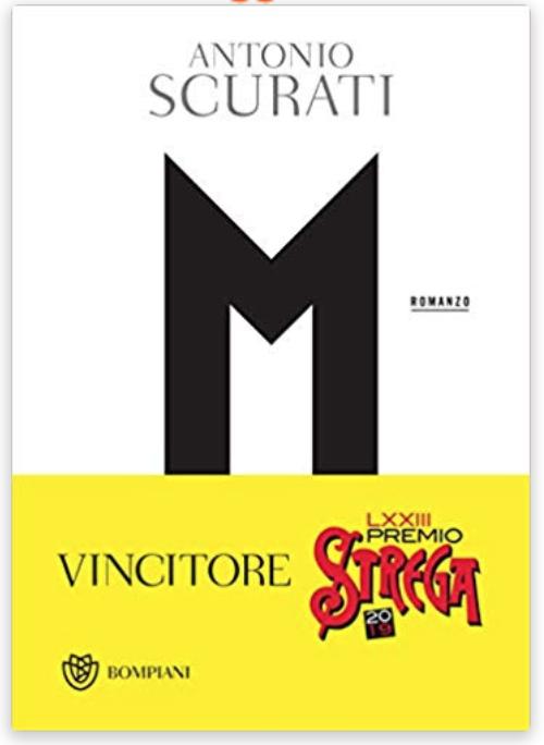 """M"""" by Antonio Scurati Takes the 2019 Strega Prize"""